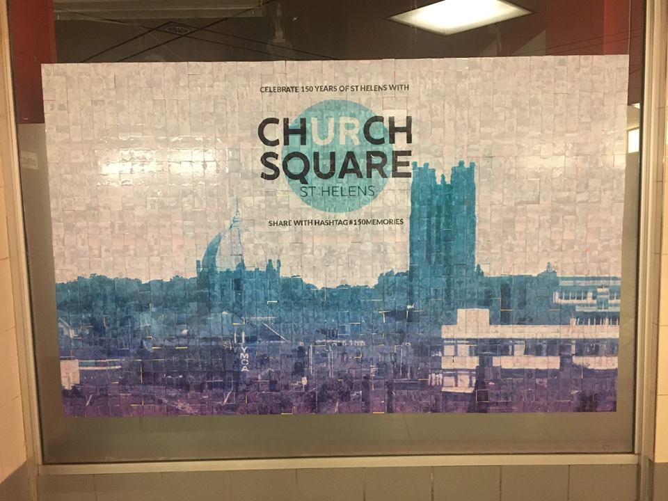 The finished mosaic Pic credit: Church Square Facebook