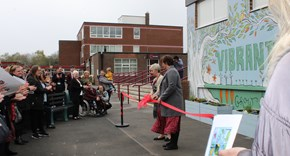 Vibrant Schools Project - Launch and unveiling of the Art Wall Garden and Grow Area