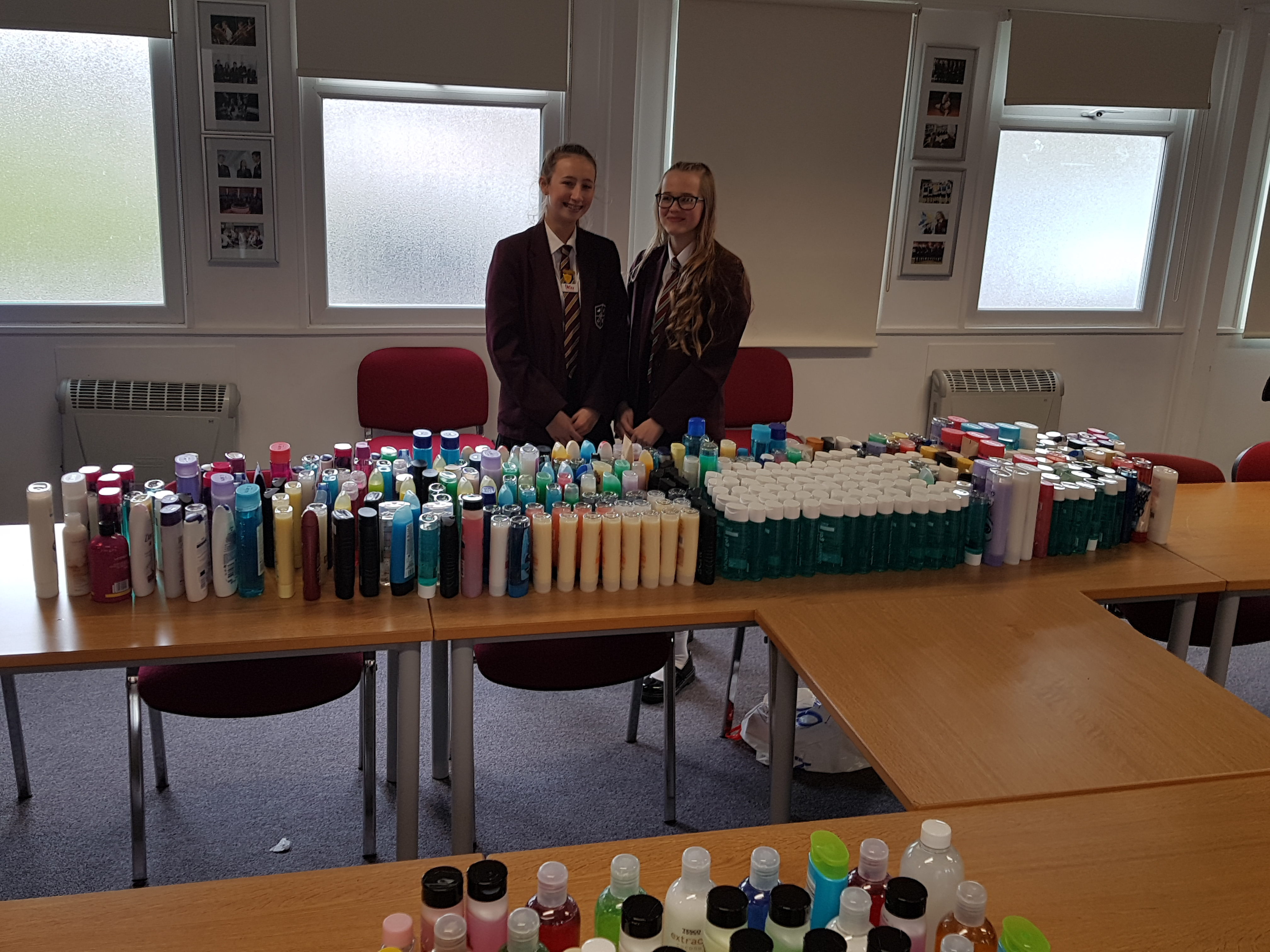 Year 9s was the winning year collecting over 600 shower gels!