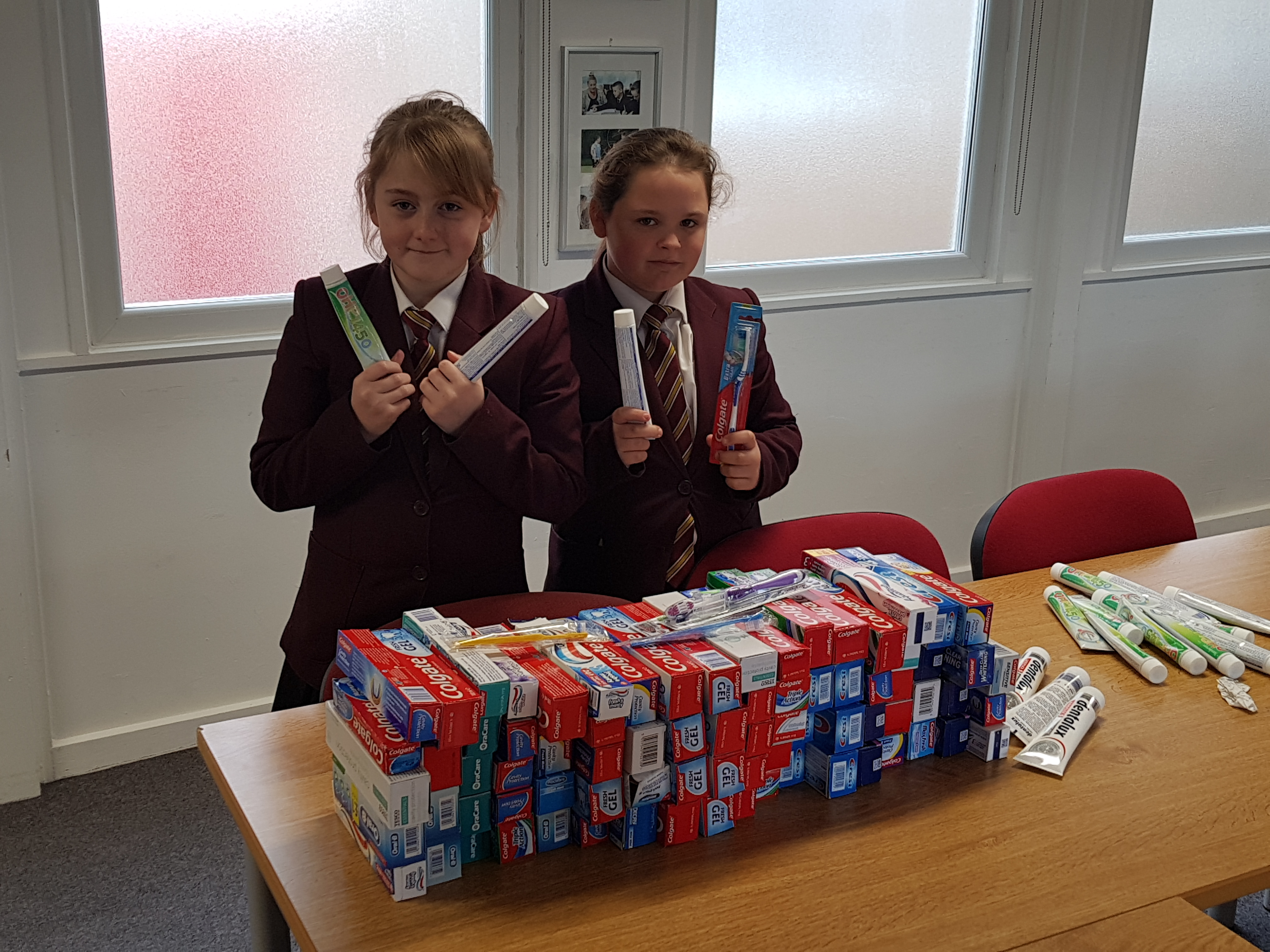 Year 7s and their toothpaste collection