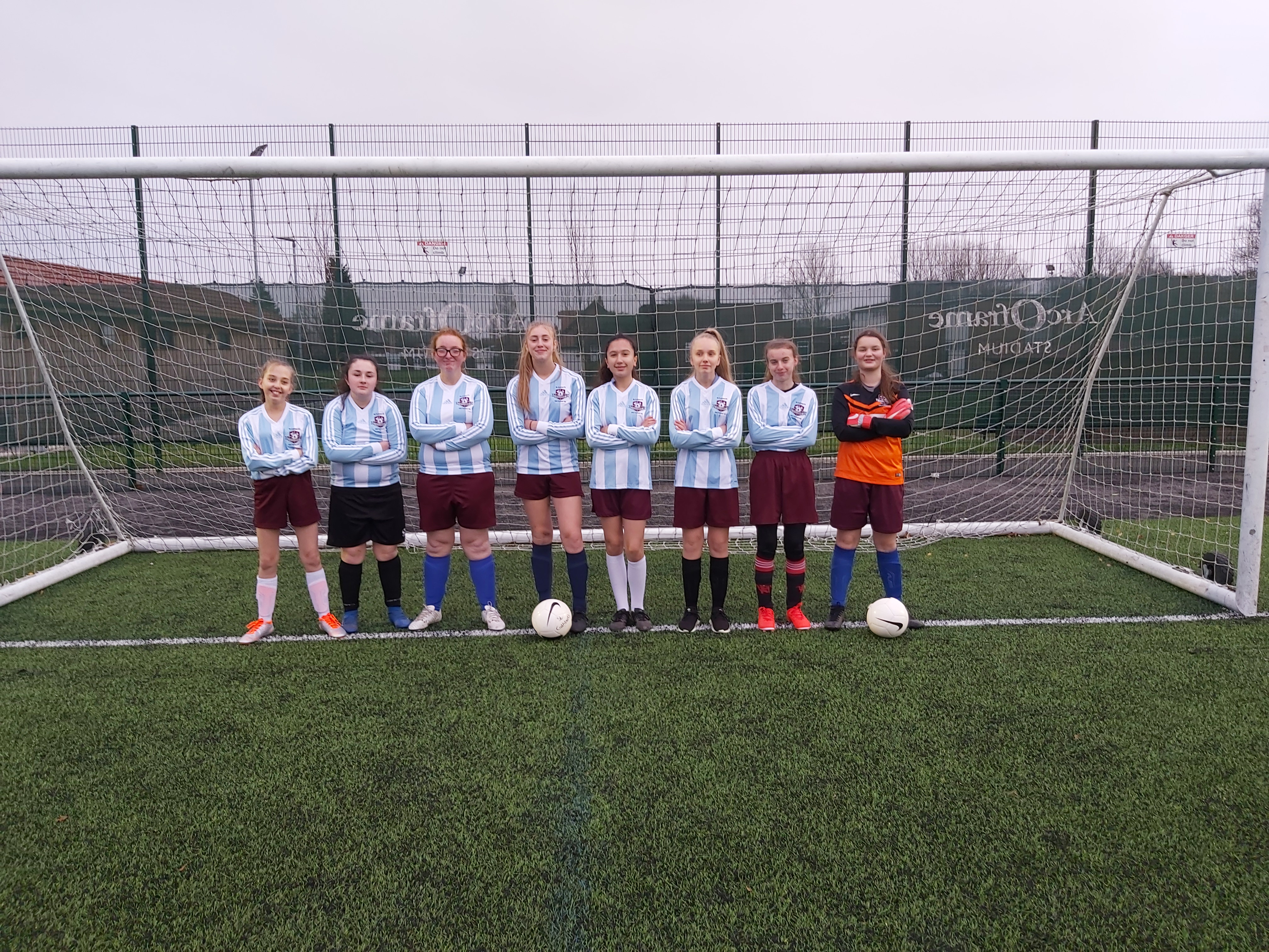 Year 9 and 10 St. Cuthbert's Cyclones Girls Football Team